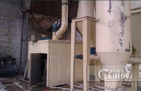 Carbon black grinding mill, processing line